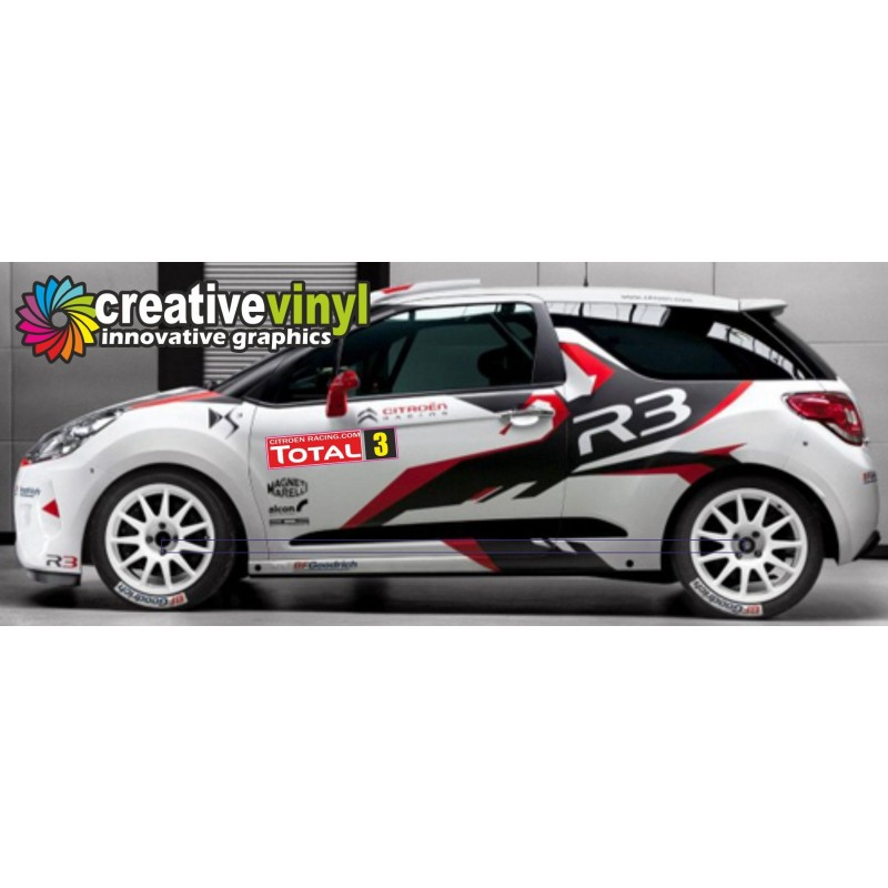 citroen ds3 r3 wrc full rally graphics kit. Black Bedroom Furniture Sets. Home Design Ideas