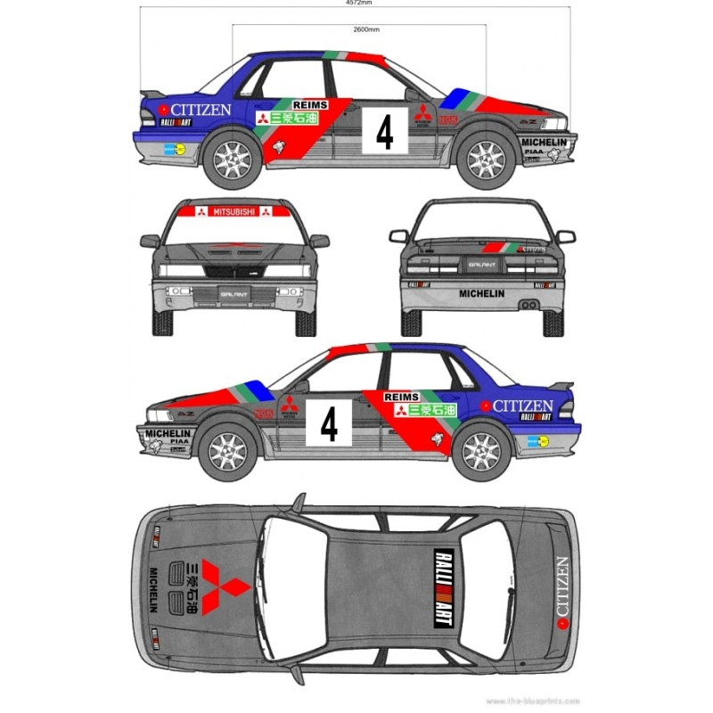 mitsubishi galant e39a vr4 group a 1988 racing cars drawings mitsubishi galant vr4 1991 wrc full rally graphics