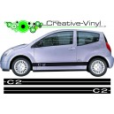 Citroen C2 Side Stripes Style 1