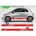 Fiat 500 Abarth Stripes Style 2