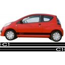Citroen C1 Side Stripes Style 1