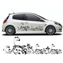 Renault Clio Custom Floral Side Graphic 24