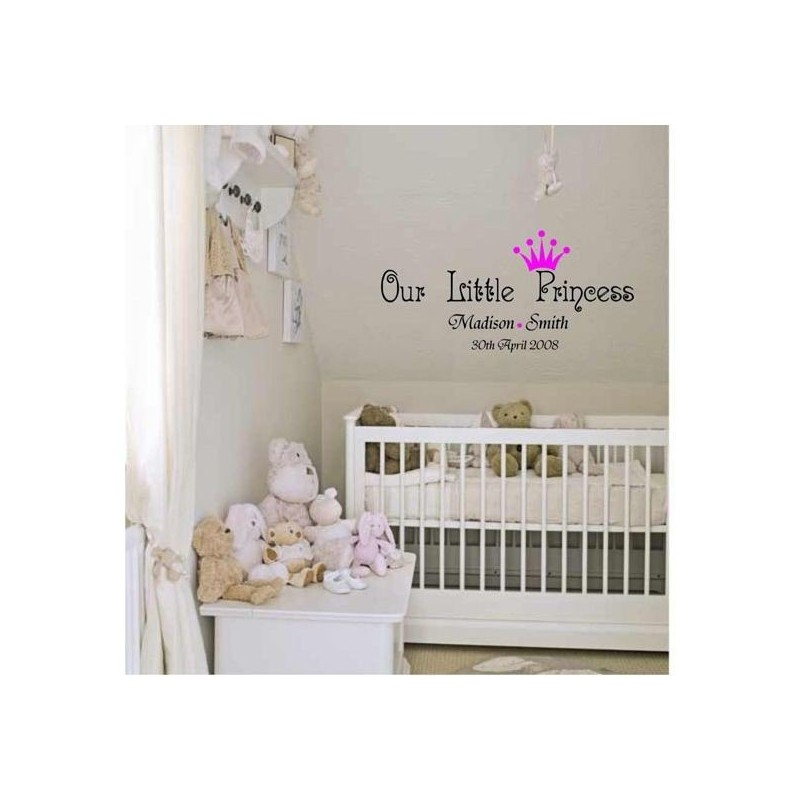 A Little Princess Nursery Design: Our Little Princess Nursery Vinyl Wall Art