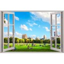 Digital Print Window Scene (Central Park)