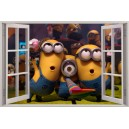 Digital Print Window Scene (Despicable Me)