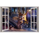 Digital Print Window Scene (Cinderella)