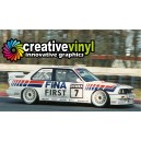BMW E30 M3 Schnitzer 1992 Team Fina Full Graphics Rally Kit.