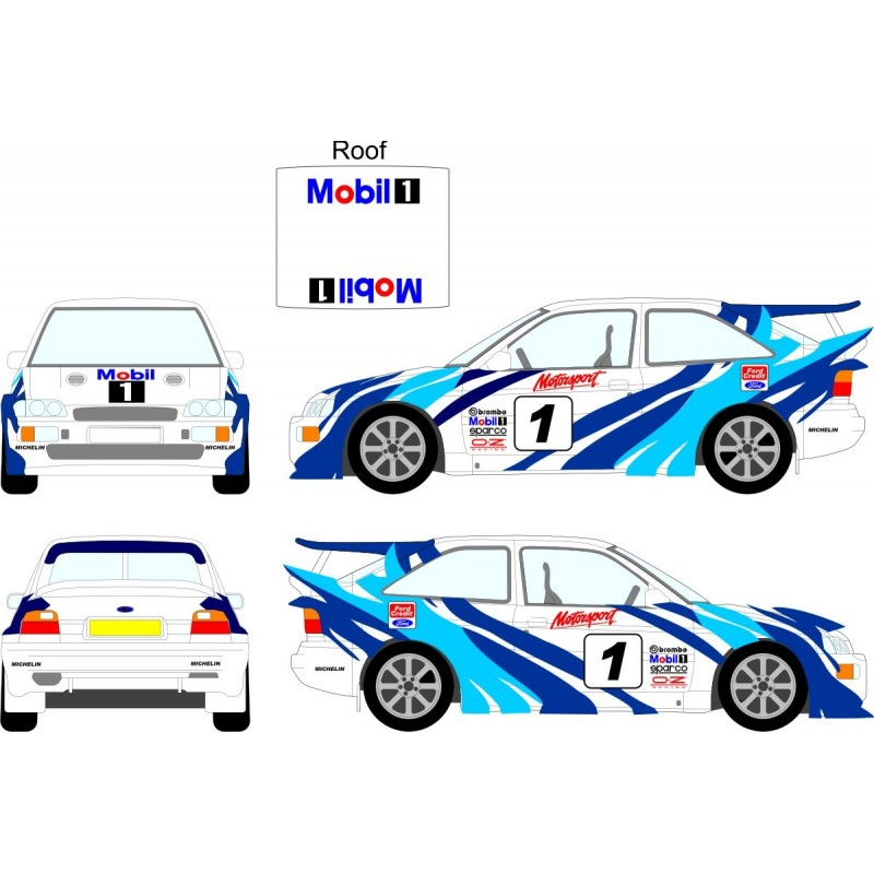 Ford Escort Tiger Stripes Wrc Full Graphics Kit