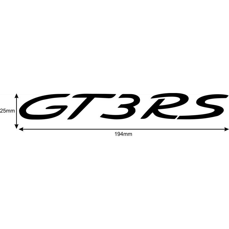Porsche Gt3 Rs Front Bonnet Hood Decal