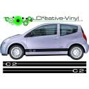Citroen C2 Side Stripes Style 1