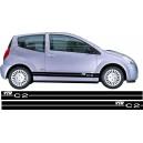 Citroen C2 Side Stripes Style 13