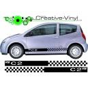 Citroen C2 Side Stripes Style 16