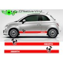 Fiat 500 Abarth Stripes Style 1