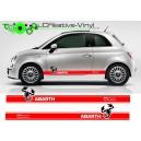 Fiat 500 Abarth Stripes Style 2