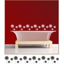 Bathtop Flowers Wall Art
