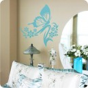 Butterfly and Flowers Wall Art 4