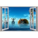 Digital Print Window Scene (Madagascar)