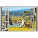Digital Print Window Scene (Madagascar)