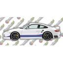 Porsche 911 997 Turbo Martini Side Stripes