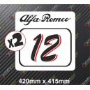 Race Number Board Alfa Romeo
