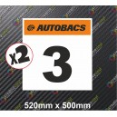 Race Number Board Autobacs