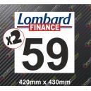 Race Number Board Lombard