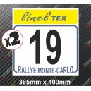 Race Number Board Monte Carlo