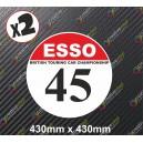 Race Number Board BTCC Esso