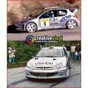 Peugeot 206 Monte Carlo Rally 2000 Full Graphics Kit
