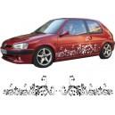 Peugeot 106 Side Stripe Style 124