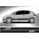 Peugeot 206 Side Stripe Style 9