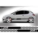 Peugeot 206 Side Stripe Style 10