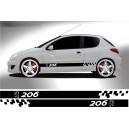 Peugeot 206 Side Stripe Style 11