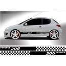 Peugeot 206 Side Stripe Style 13