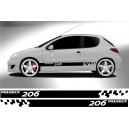 Peugeot 206 Side Stripe Style 14