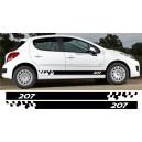 Peugeot 207 Side Stripe Style 2