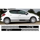 Peugeot 207 Side Stripe Style 4